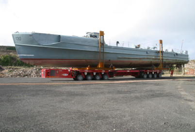 WW2 Schnellboot S130 arrives on site for restoration