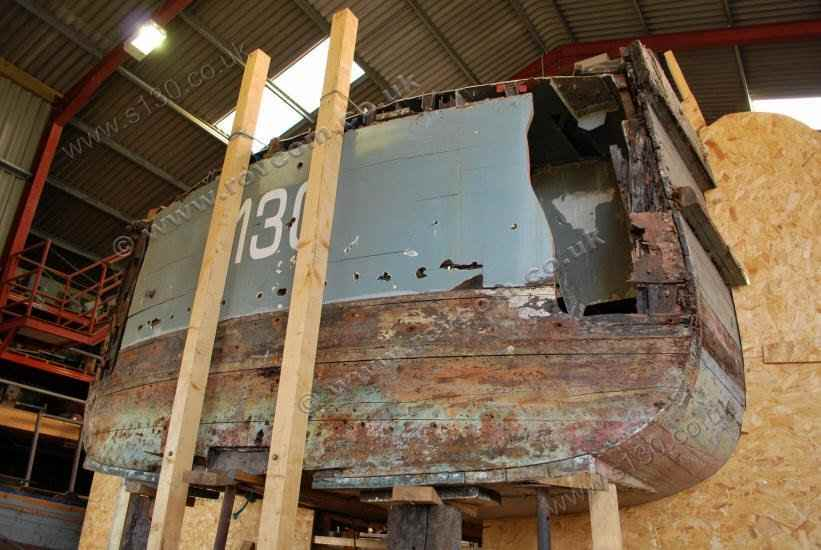S130 - removing the old transom
