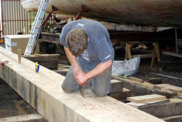 S130 - Cutting the new keel piece