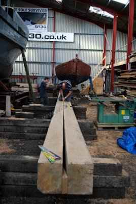 S130 - Cutting the new keel section